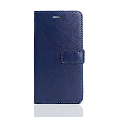 Custodia Portafoglio In Pelle Cover con Supporto per Huawei Honor 7S Blu