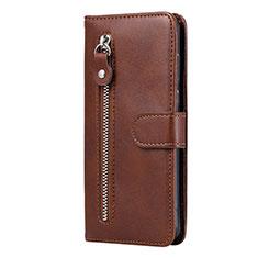 Custodia Portafoglio In Pelle Cover con Supporto per Huawei Honor 9A Marrone