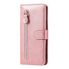 Custodia Portafoglio In Pelle Cover con Supporto per Huawei Honor 9A Oro Rosa