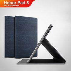 Custodia Portafoglio In Pelle Cover con Supporto per Huawei Honor Pad 5 10.1 AGS2-W09HN AGS2-AL00HN Blu