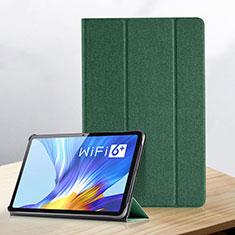 Custodia Portafoglio In Pelle Cover con Supporto per Huawei Honor Pad V6 10.4 Verde