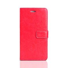 Custodia Portafoglio In Pelle Cover con Supporto per Huawei Honor Play 7 Rosso