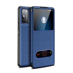 Custodia Portafoglio In Pelle Cover con Supporto per Huawei Honor X10 Max 5G Blu
