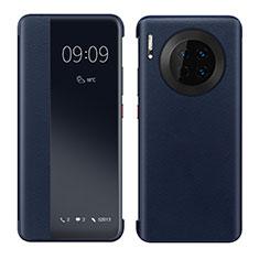 Custodia Portafoglio In Pelle Cover con Supporto per Huawei Mate 30 Pro 5G Blu
