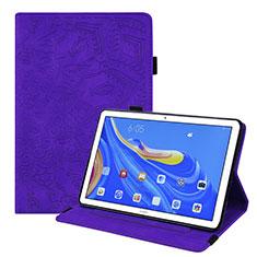Custodia Portafoglio In Pelle Cover con Supporto per Huawei MatePad 10.8 Viola