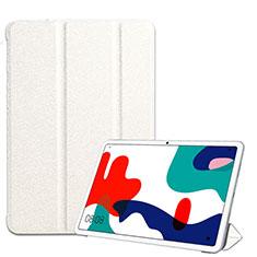 Custodia Portafoglio In Pelle Cover con Supporto per Huawei MatePad 5G 10.4 Bianco