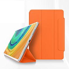Custodia Portafoglio In Pelle Cover con Supporto per Huawei MatePad Pro Arancione