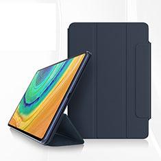 Custodia Portafoglio In Pelle Cover con Supporto per Huawei MatePad Pro Blu