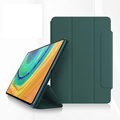 Custodia Portafoglio In Pelle Cover con Supporto per Huawei MatePad Pro Verde