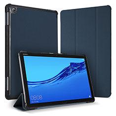 Custodia Portafoglio In Pelle Cover con Supporto per Huawei MediaPad M5 Lite 10.1 Blu