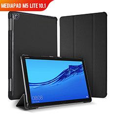 Custodia Portafoglio In Pelle Cover con Supporto per Huawei MediaPad M5 Lite 10.1 Nero