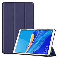Custodia Portafoglio In Pelle Cover con Supporto per Huawei MediaPad M6 8.4 Blu