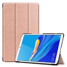 Custodia Portafoglio In Pelle Cover con Supporto per Huawei MediaPad M6 8.4 Oro Rosa