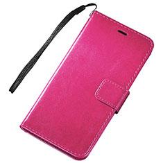 Custodia Portafoglio In Pelle Cover con Supporto per Huawei Nova Lite 3 Rosa Caldo
