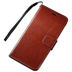 Custodia Portafoglio In Pelle Cover con Supporto per Huawei P Smart (2019) Marrone