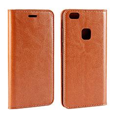 Custodia Portafoglio In Pelle Cover con Supporto per Huawei P10 Lite Arancione