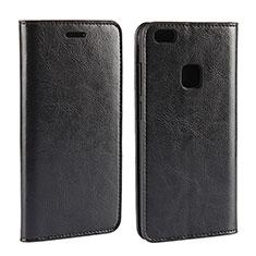 Custodia Portafoglio In Pelle Cover con Supporto per Huawei P10 Lite Nero