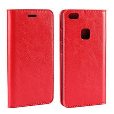 Custodia Portafoglio In Pelle Cover con Supporto per Huawei P10 Lite Rosso
