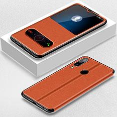 Custodia Portafoglio In Pelle Cover con Supporto per Huawei P30 Lite XL Marrone