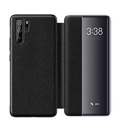 Custodia Portafoglio In Pelle Cover con Supporto per Huawei P30 Pro Nero