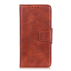 Custodia Portafoglio In Pelle Cover con Supporto per Huawei Y5p Marrone