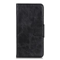 Custodia Portafoglio In Pelle Cover con Supporto per Huawei Y5p Nero