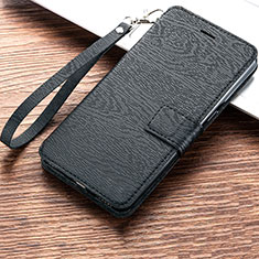 Custodia Portafoglio In Pelle Cover con Supporto per Huawei Y6s Nero