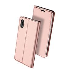 Custodia Portafoglio In Pelle Cover con Supporto per Huawei Y7 Prime (2019) Oro Rosa