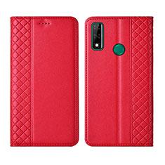 Custodia Portafoglio In Pelle Cover con Supporto per Huawei Y8s Rosso