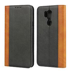 Custodia Portafoglio In Pelle Cover con Supporto per LG G7 Nero
