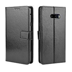 Custodia Portafoglio In Pelle Cover con Supporto per LG G8X ThinQ Nero