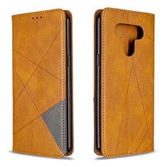 Custodia Portafoglio In Pelle Cover con Supporto per LG K51 Giallo