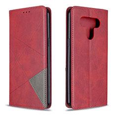 Custodia Portafoglio In Pelle Cover con Supporto per LG K51 Rosso