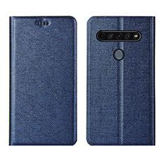Custodia Portafoglio In Pelle Cover con Supporto per LG K51S Blu