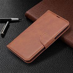 Custodia Portafoglio In Pelle Cover con Supporto per LG K61 Marrone