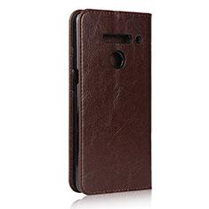 Custodia Portafoglio In Pelle Cover con Supporto per LG V50 ThinQ 5G Marrone