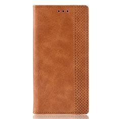 Custodia Portafoglio In Pelle Cover con Supporto per Motorola Moto E6s (2020) Arancione