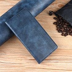 Custodia Portafoglio In Pelle Cover con Supporto per Motorola Moto Edge Blu