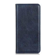 Custodia Portafoglio In Pelle Cover con Supporto per Motorola Moto G Fast Blu