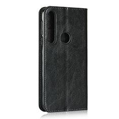 Custodia Portafoglio In Pelle Cover con Supporto per Motorola Moto G8 Play Nero