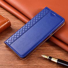 Custodia Portafoglio In Pelle Cover con Supporto per Motorola Moto G9 Blu