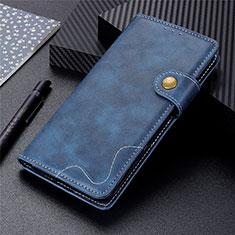 Custodia Portafoglio In Pelle Cover con Supporto per Motorola Moto G9 Plus Blu