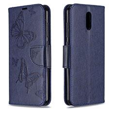 Custodia Portafoglio In Pelle Cover con Supporto per Nokia 2.3 Blu