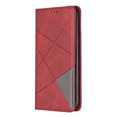 Custodia Portafoglio In Pelle Cover con Supporto per Nokia 5.3 Rosso