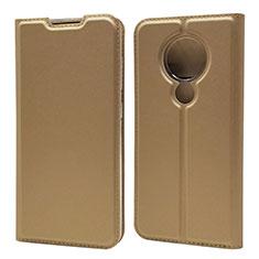 Custodia Portafoglio In Pelle Cover con Supporto per Nokia 7.2 Oro