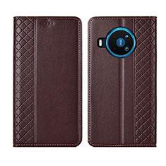 Custodia Portafoglio In Pelle Cover con Supporto per Nokia 8.3 5G Marrone