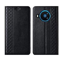 Custodia Portafoglio In Pelle Cover con Supporto per Nokia 8.3 5G Nero