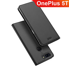 Custodia Portafoglio In Pelle Cover con Supporto per OnePlus 5T A5010 Nero