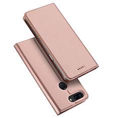Custodia Portafoglio In Pelle Cover con Supporto per OnePlus 5T A5010 Oro Rosa