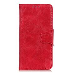 Custodia Portafoglio In Pelle Cover con Supporto per OnePlus Nord Rosso